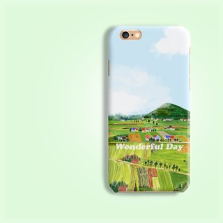 Scenery Matt finishes rigid hard Phone Case iPhone X ip8 8 plus Zenfone oppo R11