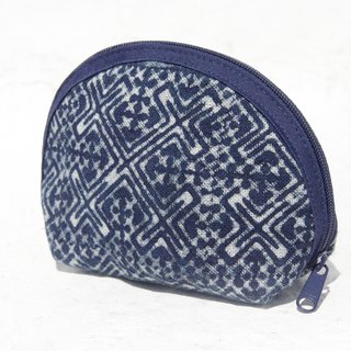Valentine's Day gift Mother's Day gift limited edition handmade blue dyed woven purse / storage bag / bag / debris bag / headset storage bag / travel card holder - blue mosque indigo blue dye purse