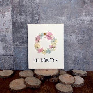 | HI BEAUTY! | Non-withered wreath. Dry flowers. Picture frame. birthday present. Home layout