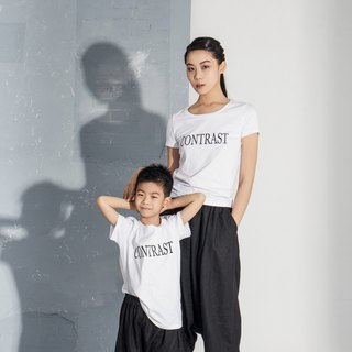 "【In stock】""CONTRAST"" parent-child outfit-child style"