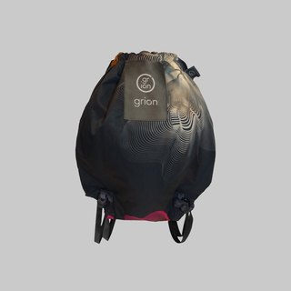grion waterproof bag - back section (S) - Limited funds - Totem black flowers