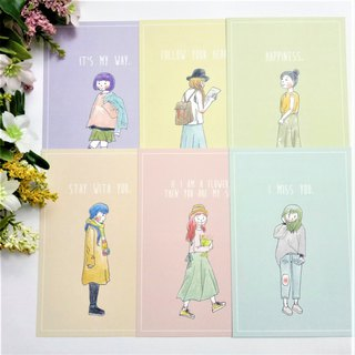 Girl Illustration Postcards (All Six)