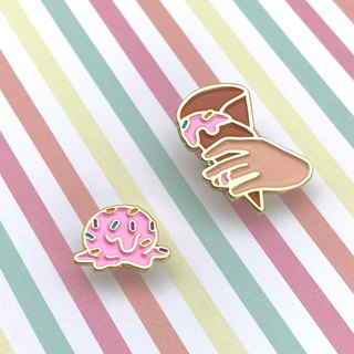 Dropped Ice Cream Enamel Pin