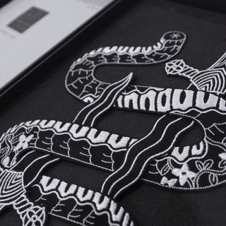 Embroidery Patch Design - Snake Tattoo Box Set