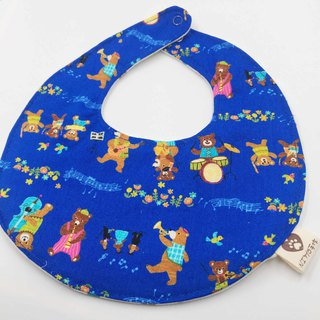 The flaming concert bib double gauze towel design