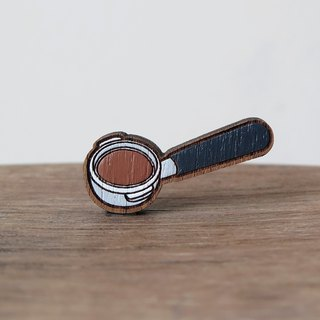 Wooden Brooch Coffee ~ Espresso Portafilter
