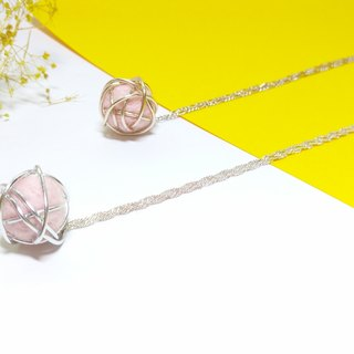 Handmade Wire Felt Necklace - Pink