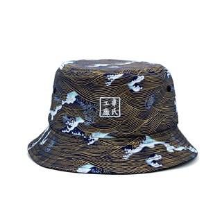 Wils Fabrik Ukiyo-E Two-Sided Bucket Hat