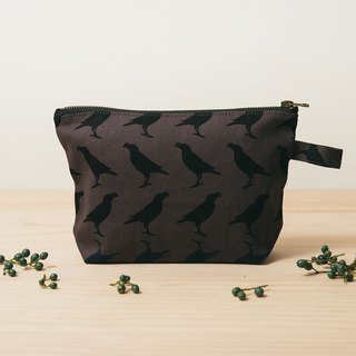 Zipper trapezoidal storage bag / Taiwan Starling No. 5 / craftsman gray black