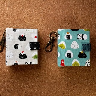[Japanese-style seaweed small rice ball] (2 colors) mini small phase key ring 5cmX4.3cm - custom small things