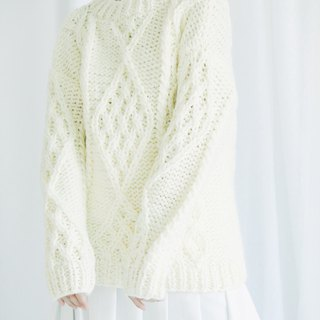 hand-knit chunky cable sweater