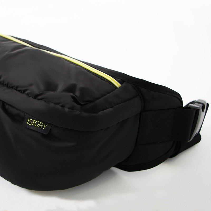 斜背/腰包兩用包.黑╳黃
