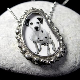 Remembrance Of Things Past sterling silver portrait necklace
