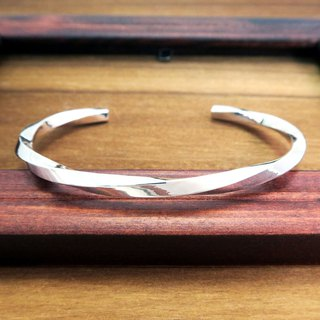 Bracelet/Bangle Twisting Future Bright Eyes Twist Thick Edition (L) Sterling Silver C-Bracelet