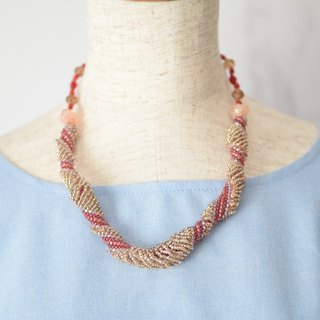 beads wave necklace