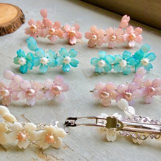 Handmade ~ Small Sakura Hairpin (One Pair/Four Colors Available)