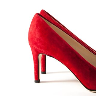 ITA BOTTEGA [Made in Italy] bright suede red pointed heel