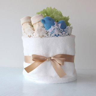 Diaper cake No.4 For boys With toys & socks made in Japan Imabari towel Ba