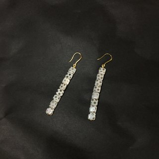 WHITE PEACOCK White Peacock Square Glass Earrings