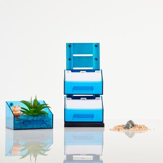 Magnetic Office Supplies Organizer - 3 Tier - Blue
