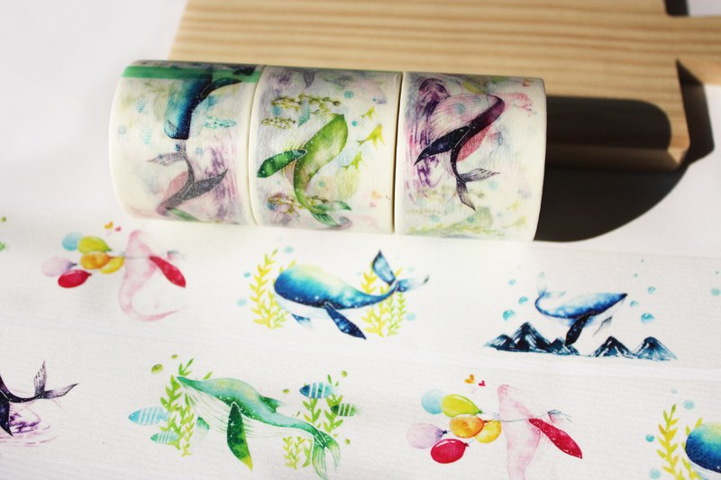 Rainbow whale&Paper tape