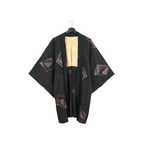 Back to Green :: Japan Back Kimono Embroidered Glitter Long Embroidery // Unisex / Vintage kimono (KI-168)