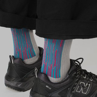 Peach Blue LANDING series Socks