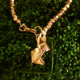 Origami Rabbit Bracelet - 18K Rose Gold Plated Sterling Silver Rabbit Bracelet