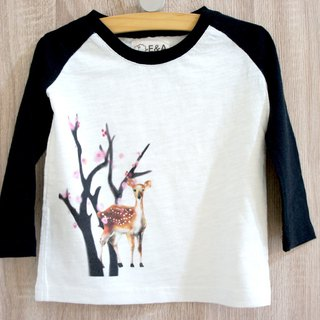 Taiwan Sika Deer (Plum Blossom Doe) Long Sleeve Long Sleeve Tee (Children's Edition)