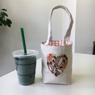 Cafe bag Heart leaves