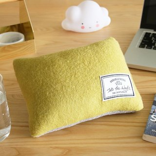 Lunch Break Pillow - Lime Green