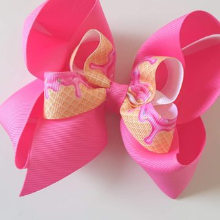 Bonbon Baby Double Bow Hairpin #Ice Cream