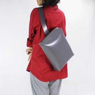 Zemoneni leather casual Cross body bag pack in Grey color