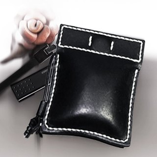 Leather bag / magnetic bag mouth