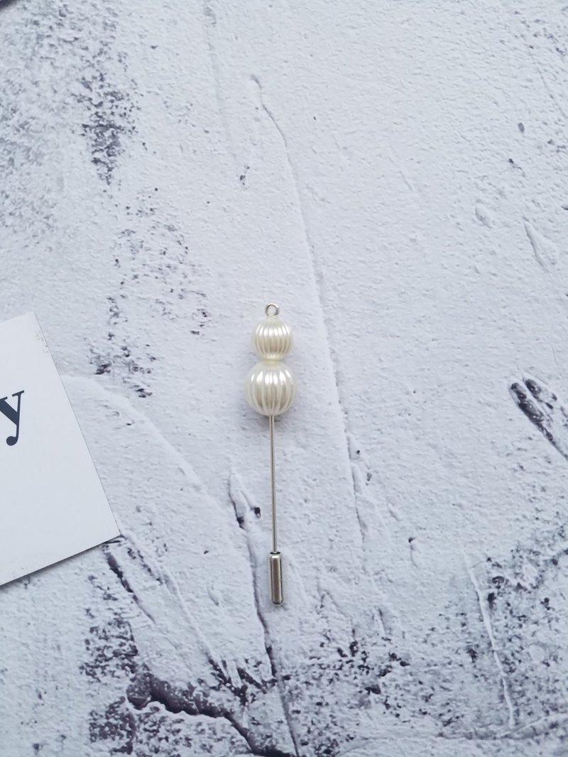 珍珠系列條紋胸針胸花新郎一字針插針