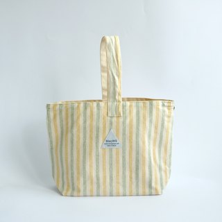 MaryWil stylized handbag - yellow and green stripes