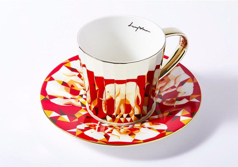 Luycho 鏡面倒影杯 咖啡杯 _ 非洲象 (大款)