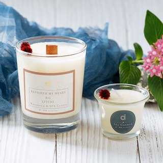 【Sentimental (Litchi)-wooden core scented candle] Ravished my Heart - Taiwan Litchi Woodwick Candle scented candle