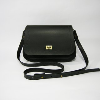 Leather organ bag (black leather) (side backpack, shoulder bag) __ Zuo zuo handmade leather goods