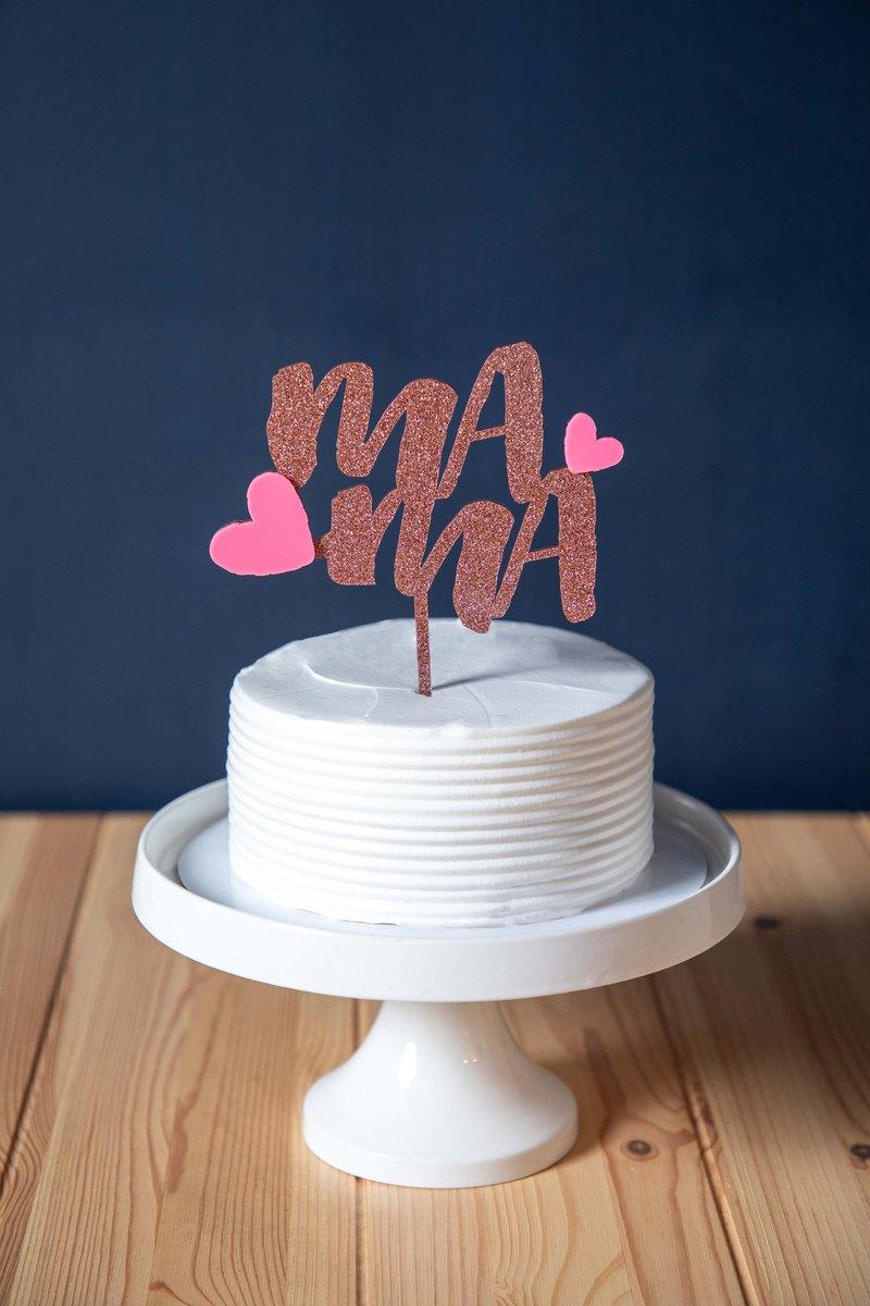 母親節 - 蛋糕插牌 MAMA 字樣