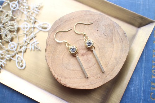 Vintage circle-Brass earrings