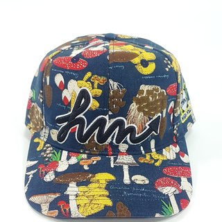 Embroidered Print Baseball Cap - Magic Mushroom (Blue) #老帽#潮帽#Summer Essentials#文青