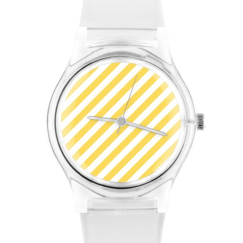 05:45PM Yellow stripe watch