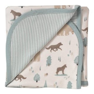 100% organic cotton baby wolf baby towel British brand