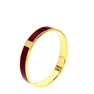 Pure color Masaala wine red cloisonne enamel series of solid color bracelet (gold) -11000159014