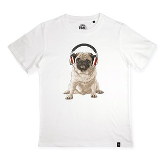 AMO®Original canned cotton T-shirt/AKE/The Pug Who Don't Like Human's Song