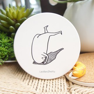 Boss this fish - the life-thirsty [support] ceramic absorbent coasters