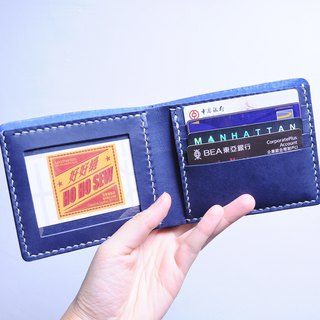 4 相片 photo short clip well stitched leather material bag short wallet Italian vegetable tanned leather DIY