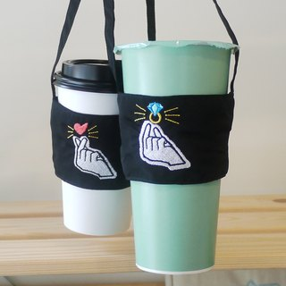痣明爱春蕉袋走2 into the embroidered Chinese and English name environmental lovers drink bag