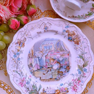 Anne's Crazy Antiquities Royal Doulton Royal Dalton Brie Village Mouse Moving Birthday Edition Limited Edition Cake Plate Dessert Plate Fruit Plate